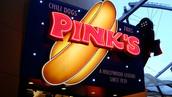 Pink's Hotdogs Signage