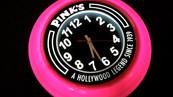 Pink's Branded Clock