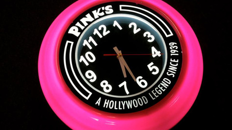 Pink's Branded Clock