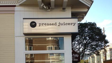 Pressed Juicery Signage