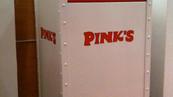 Pink's Branded Trash Receptacle