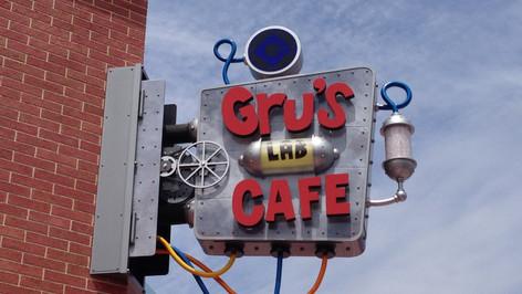Gru's Lab Cafe Signage