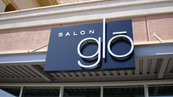 Salon Glo Storefront Signage