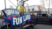 Super Silly Fun Land Entrance Signage