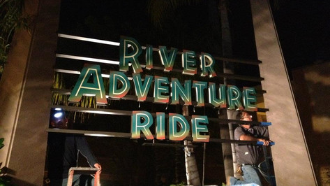 River Adventure Ride / Dino Play SignageRiver Adventure Ride / Dino Play Signage