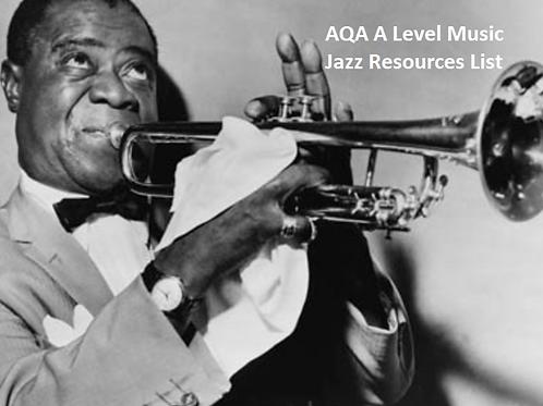 AQA A Level Music Jazz Resources List