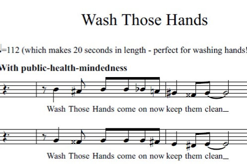 Wash Those Hands (SATB)