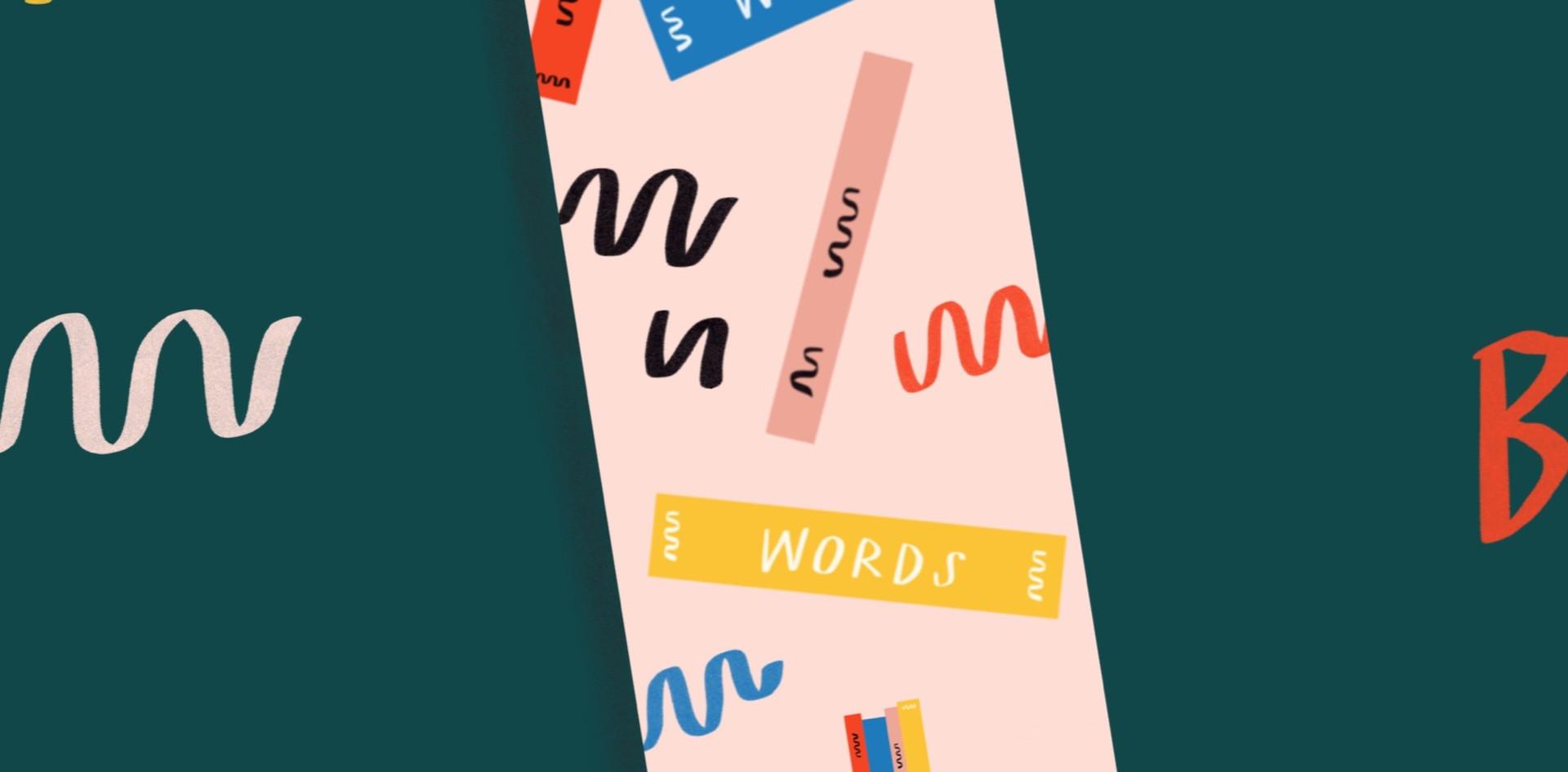 Wonder Words Bookmark