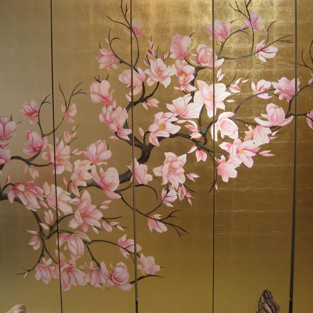 Schrankwand Magnolienbaum