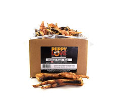 Puppy Love Pet Products Chicken Feet Bulk Box, 100% Canadian Dog & Cat Treat