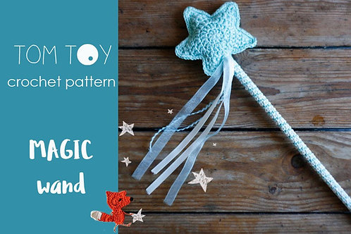 Magic wand Crochet PATTERN, TomToy accessories
