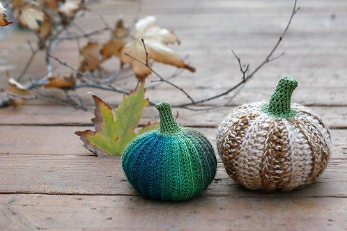 Crochet pumpkins, 11-13cm, 1 piece
