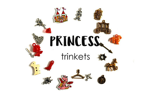Princess Theme I Spy trinkets, 1-3cm, Set of 20