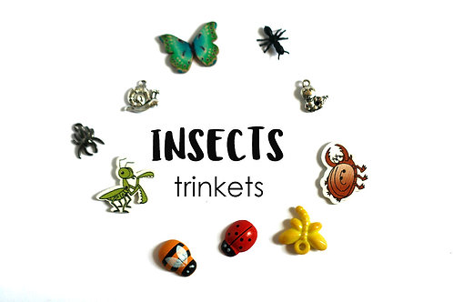 ANIMALS Theme I Spy trinkets: Insects, 1-3cm, 15 trinkets