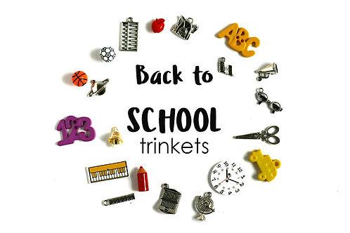 Back to School Theme I Spy trinkets, 1-3cm, Set of 20