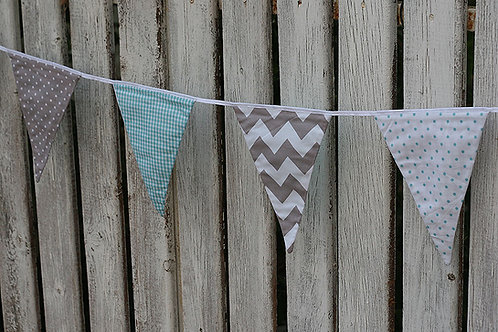 Pastel Fabric Bunting, 2m length