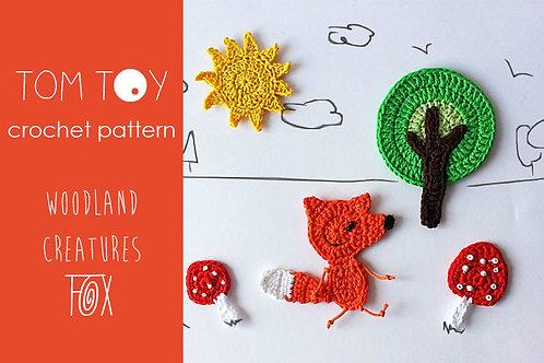 FOX set Crochet PATTERN, Woodland Creatures collection