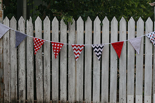 Nautical Fabric Bunting, 2m length