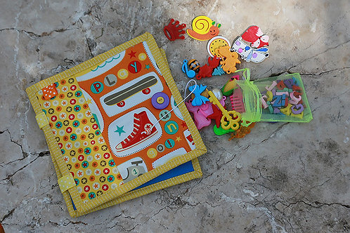 Spelling book with miniature objects and letters, Handmade by TomToy