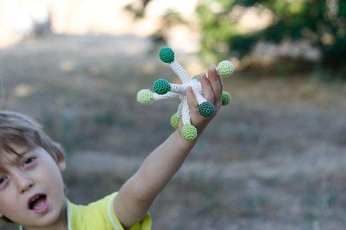 Dandelion crochet Rattle Handmade by TomToy