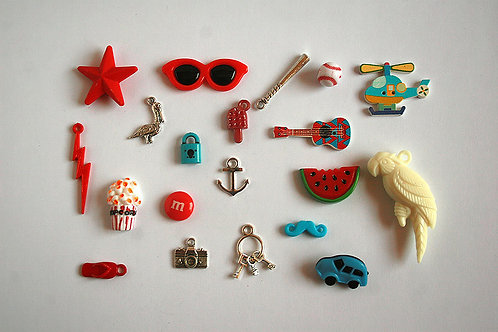 Anchor I Spy trinkets Collection, 1-6cm, Set of 20