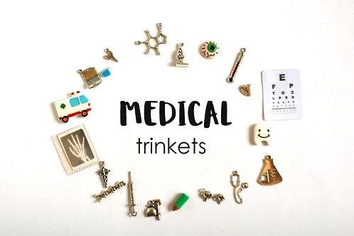 Medical theme I Spy trinkets, 1-5cm, Set of 20