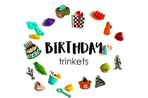 Birthday Theme I Spy trinkets, 1-3cm, Set of 20