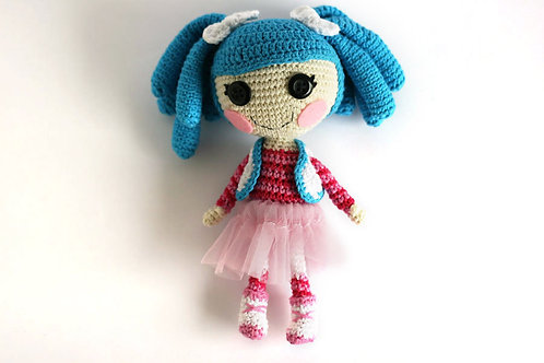 Crochet doll Lalaloopsy Mittens with removable clothes, 19cm