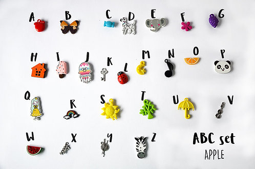 Apple ABC set, Alphabet I spy trinkets by TomToy