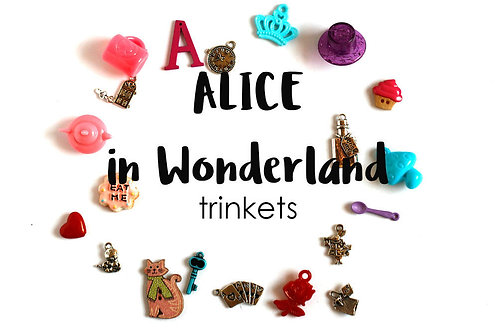 Alice in Wonderland Theme I Spy trinkets, 1-3cm, Set of 20