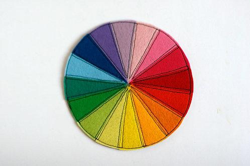 Felt 16-Color wheel, 15/20/30 cm diameter