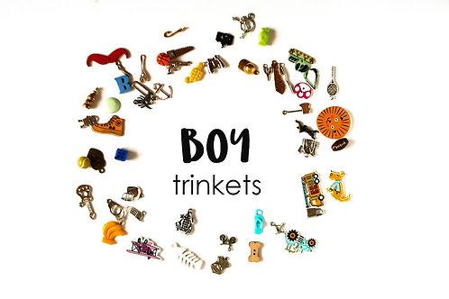 Boy Theme I Spy trinkets, 1-3cm, Set of 50
