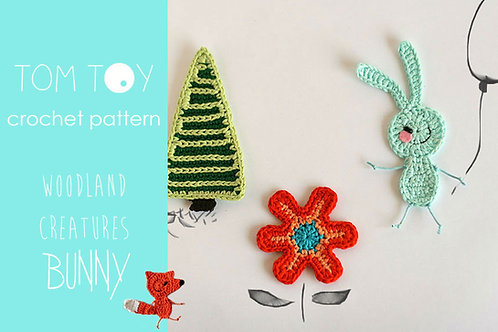 BUNNY set Crochet PATTERN, Woodland Creatures collection