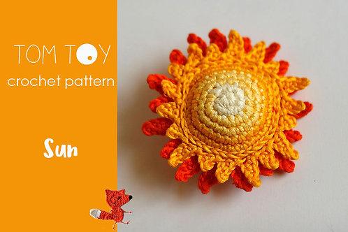 Sun Crochet PATTERN, Amigurumi sun, Crochet toy, Soft plushie sun, Summer decor, DIY crochet instructions, Crochet sun,