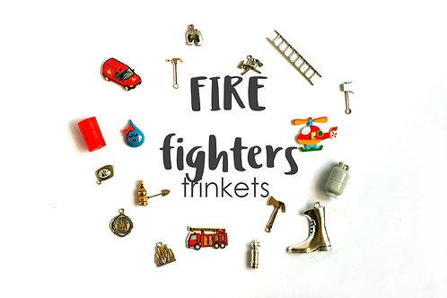 Fire fighters Theme I Spy trinkets, 1-3cm, Set of 20