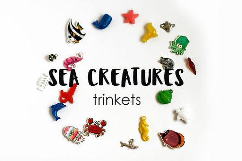 ANIMALS Theme I Spy trinkets: Sea creatures,1-3cm, Set of 20 trinkets