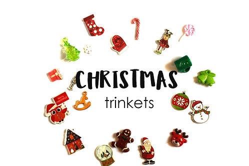 Christmas Theme I Spy trinkets, Red/Blue/White,1-3cm, Set of 20
