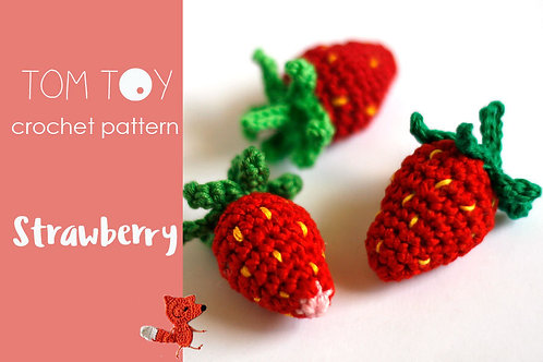 Strawberry Crochet PATTERN, Amigurumi berries