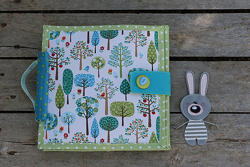 Bunny day Quiet book, 20x20cm, 6 pages