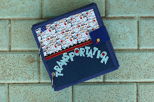 Transportation and Professions Quiet book, 20x20cm, Custom 4-14 pages