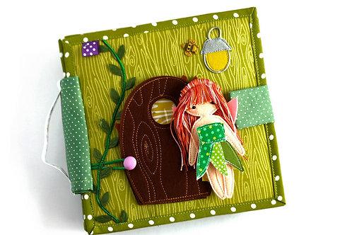 Fairy Dollhouse Quiet book, 20x20cm, 6 pages