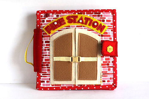 Fire station Quiet book, 20x20cm, Custom 4-12 pages