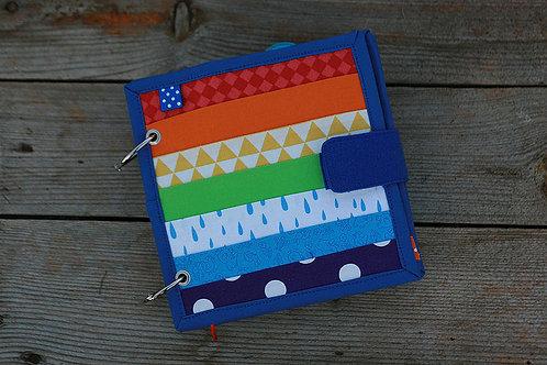 Rainbow Buckles Quiet book, 17x17cm, 8 colors-pages
