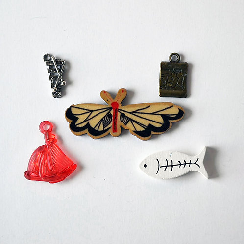 Letter X I spy trinkets, ABC alphabet box fillers by TomToy