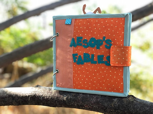 Aesops Fables Quiet book, Baby busy book, Handmade by TomToy, 20x20cm, 6 pages