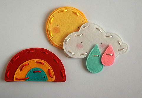How to make a Rainbow lacing cards, Set of 3