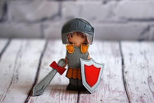 "Armor of God set for Felt ""paper"" doll, handmade by TomToy"