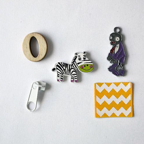 Letter Z I spy trinkets, ABC alphabet box fillers by TomToy