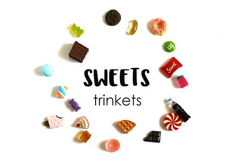 FOOD  Theme I Spy trinkets: Sweets, 1-3cm, Set of 19