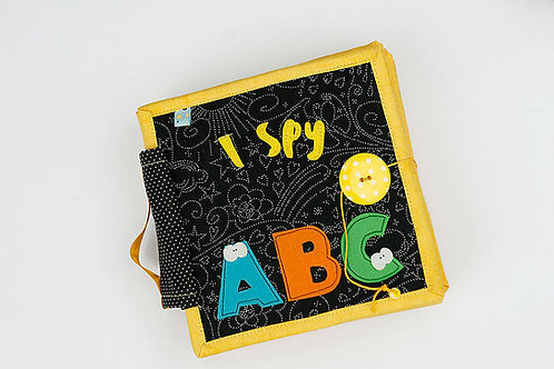 I spy ABC fabric book, Handmade by TomToy Quiet felt Educational book